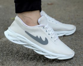 LeeGreater White Comfortable and Stylish Latest Running Sport Shoes for Men