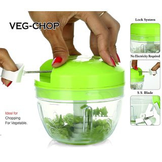 Geet All in one smart Plastic vegetable chopper - Green