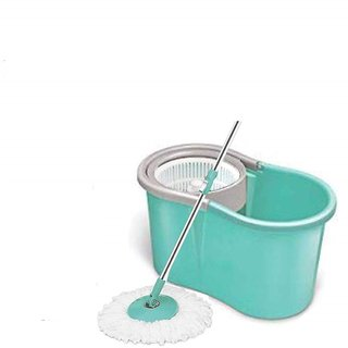 Geet Spin Mop Value- 360 Degree Self Wringing with 2 Super Absorbers Refills (Assorted Colour)