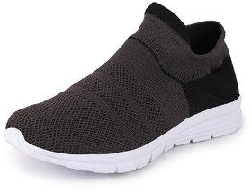 Fausto Men's Dark Grey Sports Running Shoes
