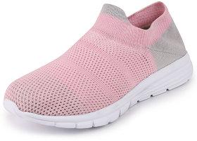 Fausto Women's Pink Sports Slip On Outdoor Walking Shoes