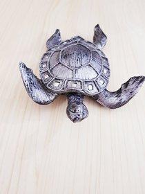 Home Artists Tortoise Handicraft Showpiece for Good Luck/Vastu (Kachhua/Turtle) (Color: Silver; Length: 22 cm)