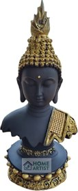 Home Artists Hancrafted Buddha Polyresin Showpiece for Home Dcor - Black