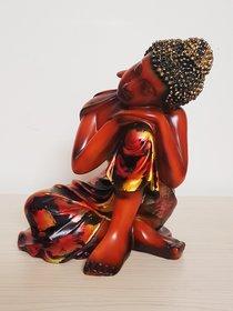 Home Artists Resting Buddha on Knee Polyresin Showpiece