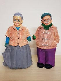 Home Artists DadaDadi-NanaNani Hand Crafted Set - Grey and Purple