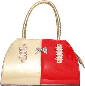 Ladies Hand Bags And Shoulder Bag Red And Golden
