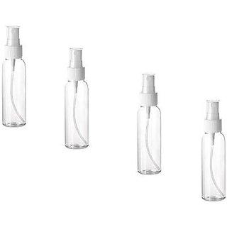 Transparent Empty Spray Bottle 50 ml Bottle Pack Of 4