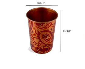 RK Handicraft Copper 250 ml Glasses