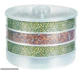 Plastic Hygienic Sprout Maker Box with 4 Container Organic Home Making Fresh Sprouts Makers for Home Material Box