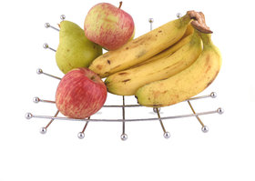 Rk Handicrafts Stainless Steel Fruit Basket