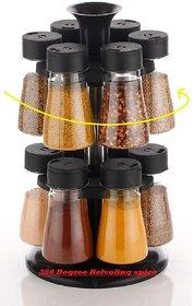 12 Spice Rack Multipurpose Rotating Plastic Spice Rack 12 Pieces Masala Box/Condiment Set/Masala Boxes for Kitchen