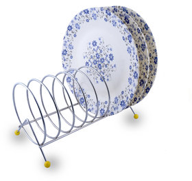 R K Handicrafts Stainless Steel Plate Stand