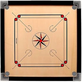 32 inch Carrom Board (Muskan) at never ever offer without coins and powder