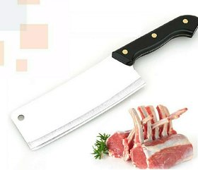 Generic Heavy Duty Stainless Steel Chef's Chopper/Knife/Meat Cleaver (Black)