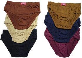 Men's Inner Wear Cotton Brief (Multicolor,Pack of 6)