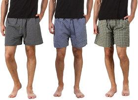 Fashion Fresh Checks Multicolor Boxer Short (Pack of 3)