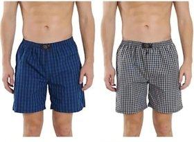 Fashion Fresh Checks Multicolor Boxer Short (Pack of 2)