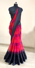 Meia New Arrivals Satin Patta Sarees With Blouse