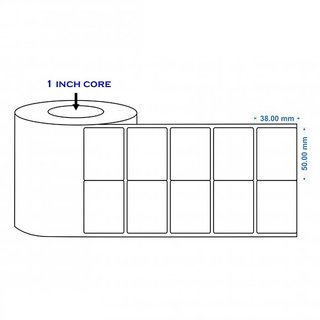 50X38mm 2UP Direct Thermal Barcode Label 6 Roll (18000 Labels)