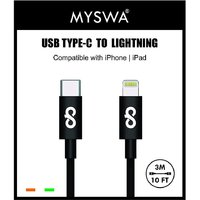 Myswa Data Charging Type C to 8 Pin  Lightning  Cable