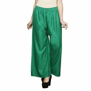 Adorable Flared Solid Palazzos For Women FREE SIZE