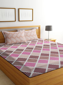 Bsb Home 160 Tc Microfibre Bedsheet With 2 Pillow Covers,Size-90X90 Inches,Colour-Brown