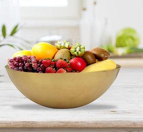 RK Handicraft 1 Pcs Brass Fruit Bowl 3000 mL