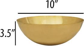 RK Handicraft 1 Pcs Brass Fruit Bowl 2000 mL