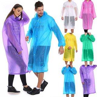 Rain Card/Coat for Unisex Rain Poncho for Men-Women, XL Size (Colour May Vary)
