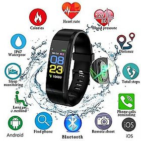 M Mapon fashion ID115 Smart Health Monitoring Fitness Band (Black)