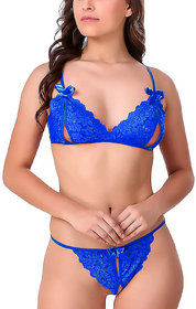 LOBELIA Women Lace Lingerie Set of Panty Bra