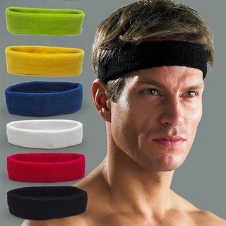 Fitness Sports Sweatband Headband Yoga Gym Head Band for Men/WomenColour May VaryFree Size Fitness Bands   Watches