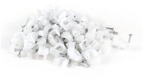 CABLE CLIP 10MM CABLE WIRE WALL HANGING CLIP 100PCS