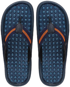 Fausto Men's Navy Blue Casual Slip On Outdoor Slipper Flip Flops