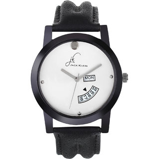 Jack klein Formal And Elegant White Dial Day And Date Working Wrist Watch
