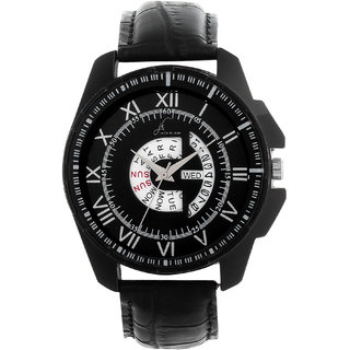 Jack klein Stylish Black Day And Date Working Analogue Wrist Watch