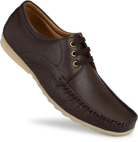 Gulass Men's Wick Brown Lace-up Loafers Casual Shoe