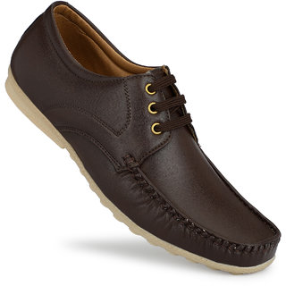 Gulass Wick Men Brown Lace-up Loafers Shoes