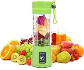 Crystal Digital Green Blue Portable USB Electric Juicer with Sipper (Multicolour)