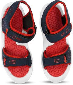 Sketchfab Men Regular Synthetic Leather Sandals For Men UK 6 - (White/Red)