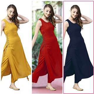 Aiza collection navy red yellow red dori design crepe k
