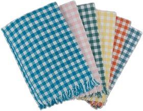 PRITHVI TEX - SREYA design 216 GSM Cotton Bath Towel set ( 30 x 60 inch,Multicolour )-Pack of 6