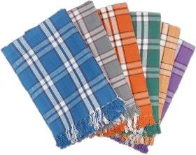 PRITHVI TEX - MENAKA design 216 GSM Cotton Bath Towel set ( 30 x 60 inch,Multicolour )-Pack of 6