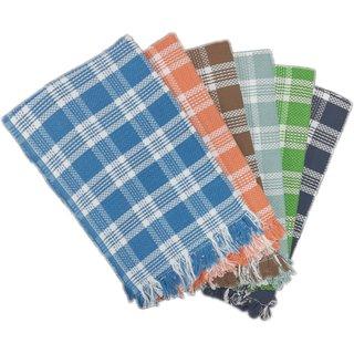 PRITHVI TEX - RIYA design 216 GSM Cotton Bath Towel set ( 30 x 60 inch,Multicolour )-Pack of 6