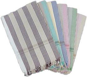 PRITHVI TEX - LAKSMAN design 216 GSM Cotton Bath Towel set ( 30 x 60 inch,Multicolour )-Pack of 6