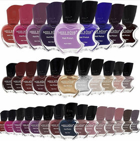 Miss Rose Professional Make-up Applee Nail Polish Set Of 12 Assorted