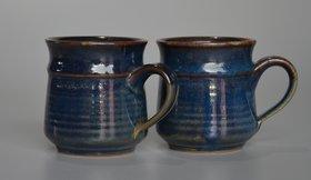 Mrid cera Studio pottery ceramic Tea mug set of 2(250 ml,  Blue)