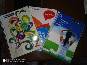 spiral notbook 500 pages set of 5 pcs.