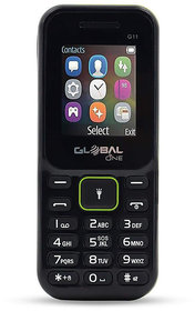 Global G11 keypad Mobile Phone with 2 Sim Card Slot  Memory Card Slot - Black