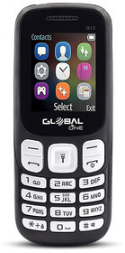 Global G12 keypad Mobile Phone with 2 Sim Card Slot  Memory Card Slot - Black